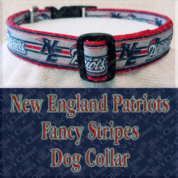 New England Patriots Fancy Stripe Dog Collar Product Image No6