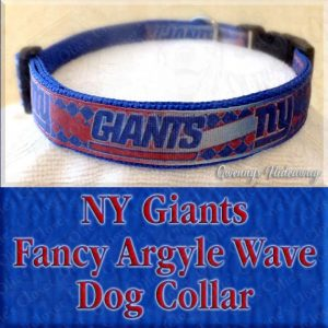 New York Giants Fancy Wavy Argyle Dog Collar Product Image No2