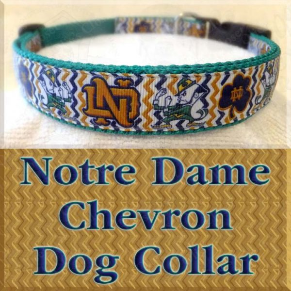 Notre Dame Fighting Irish Chevron Dog Collar Product Image No1
