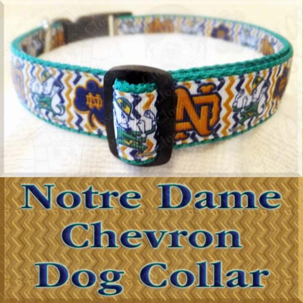 Notre Dame Fighting Irish Chevron Dog Collar Product Image No2