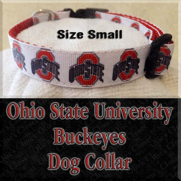 Ohio State University Size Small Dog Collar Product Image No2