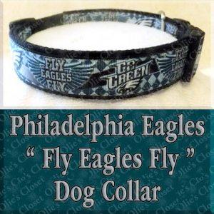 Go Green Philadelphia Eagles Wavy Argyle Fly Eagles Fly Designer Dog Collar Product Image No2