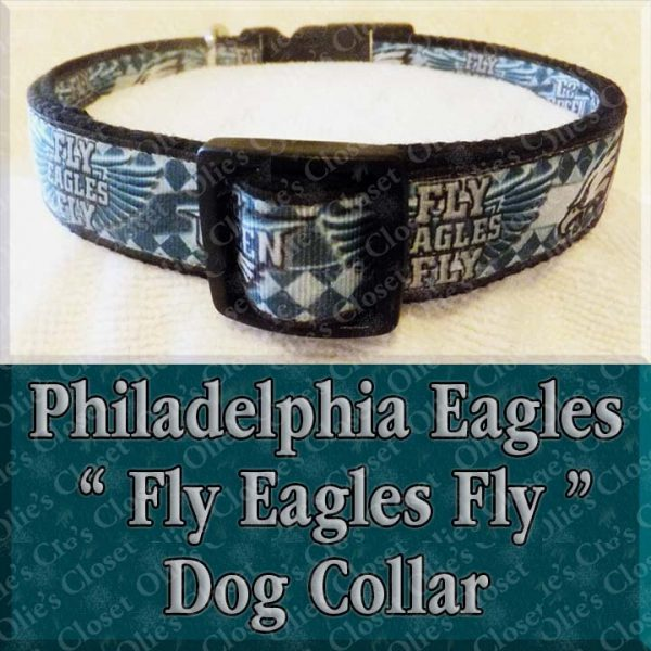 Go Green Philadelphia Eagles Wavy Argyle Fly Eagles Fly Designer Dog Collar Product Image No1