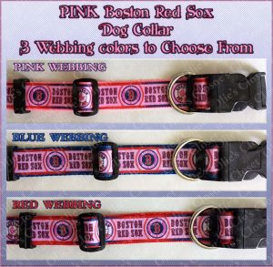 PINK Boston Red Sox Designer Dog Collar