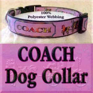 PINK Coach Polyester Webbing Dog Collar Product Image No3