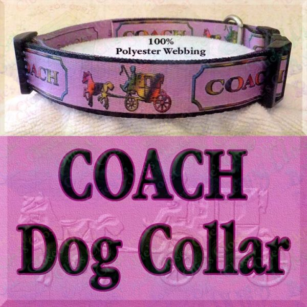 PINK Coach Polyester Webbing Dog Collar Product Image No4