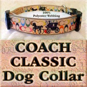 Classic Coach and Carriage Designer Polyester Webbing Dog Collar Product Image No4