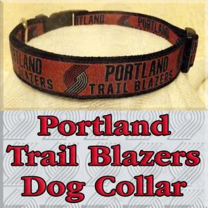 Portland Trail Blazers Designer Dog Collar Product Image No1