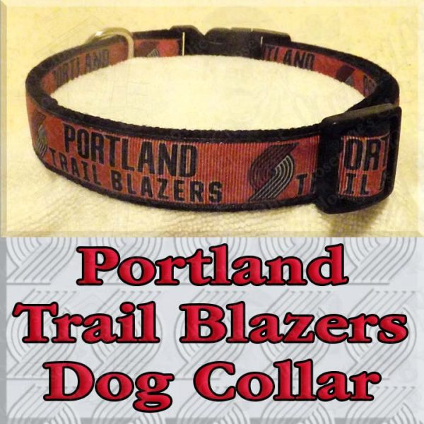Portland Trail Blazers Designer Dog Collar Product Image No2