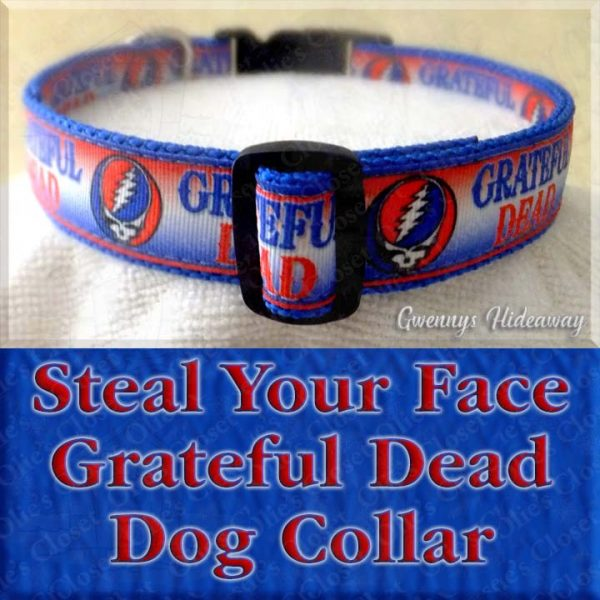 Steal Your Face Grateful Dead Dog Collar Product Image No1