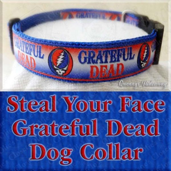 Steal Your Face Grateful Dead Dog Collar Product Image No2