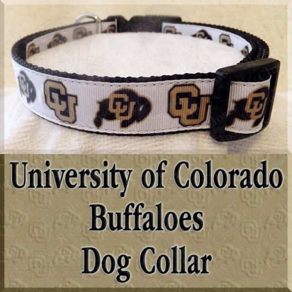 University of Colorado Buffaloes Designer Dog Collar Product Image No1