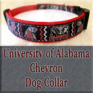 University of Alabama CHEVRON Dog Collar Product Image No1