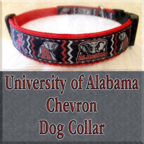 University of Alabama CHEVRON Dog Collar Product Image No1