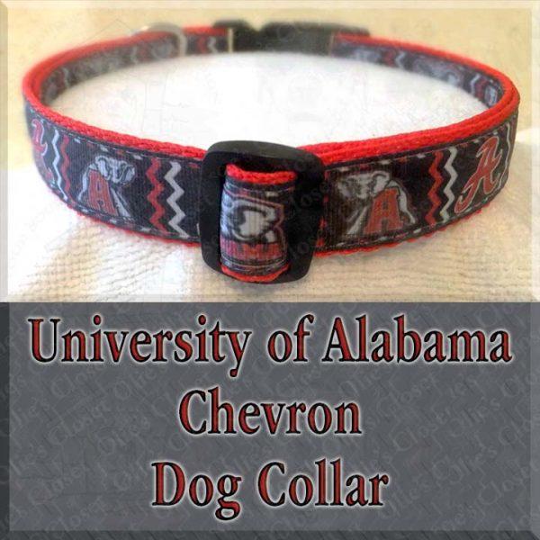 University of Alabama CHEVRON Dog Collar Product Image No2