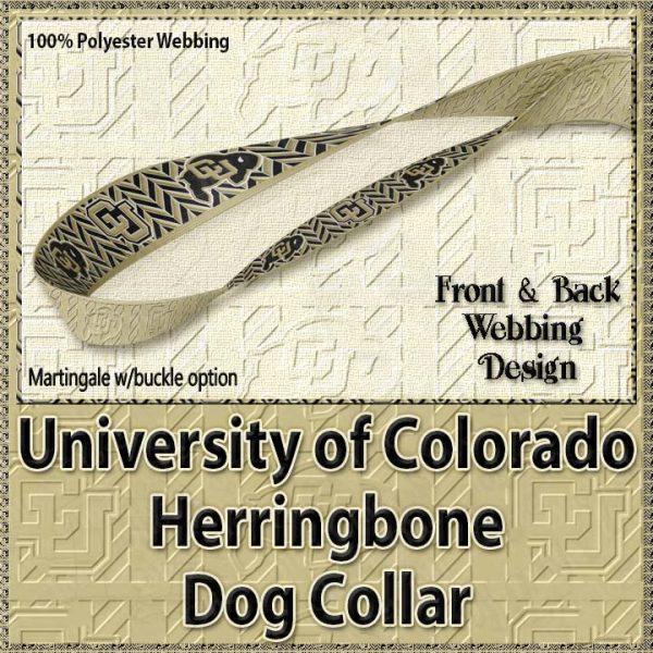 University of Colorado Buffaloes Herringbone Polyester Webbing Dog Collar Product Image No4
