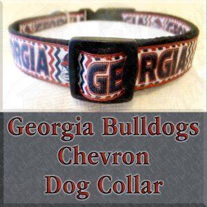 University of Georgia Bulldogs CHEVRON Dog Collar Product Image No1
