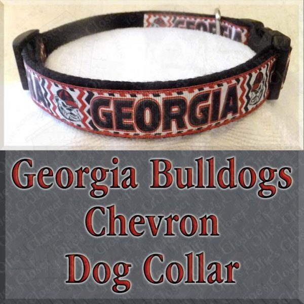 University of Georgia Bulldogs CHEVRON Dog Collar Product Image No2