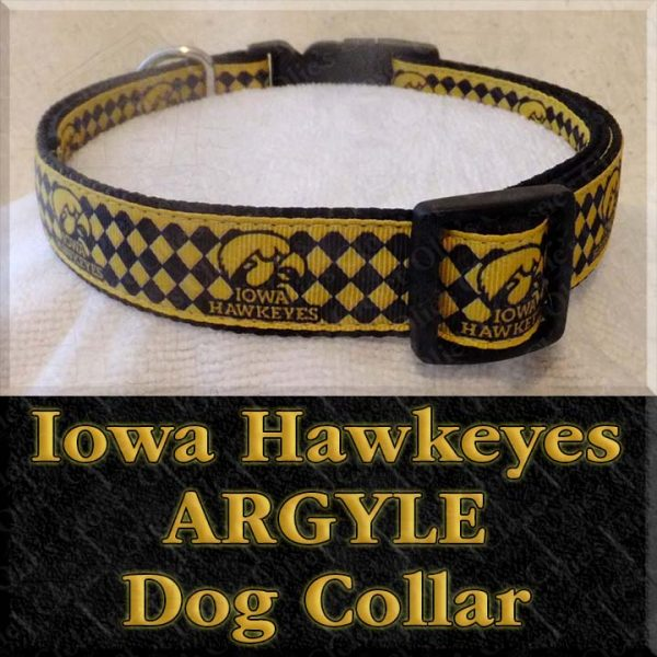 University of Iowa Hawkeyes ARGYLE Dog Collar Product Image No1