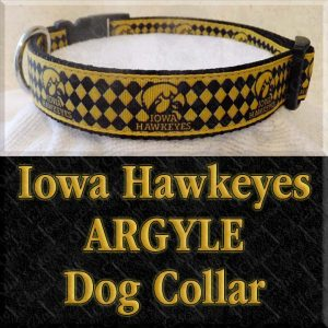 University of Iowa Hawkeyes ARGYLE Dog Collar Product Image No2
