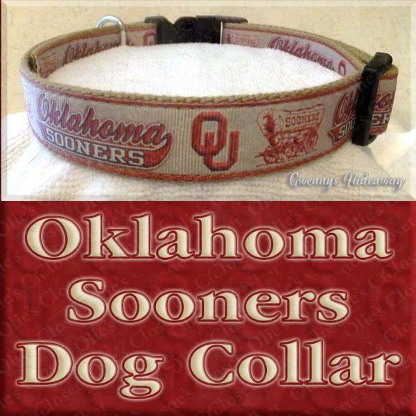 University of Oklahoma Sooners Designer Dog Collar Product Image No1