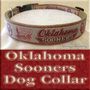 University of Oklahoma Sooners Designer Dog Collar Product Image No2