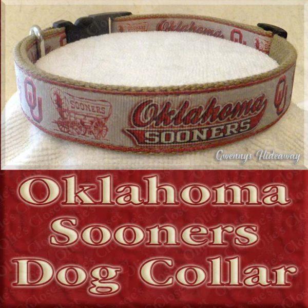 University of Oklahoma Sooners Designer Dog Collar Product Image No2