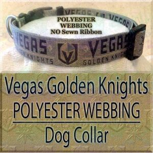 Vegas Golden Knights Polyester Webbing NHL Ice Hockey Designer Dog Collar Product Image No2