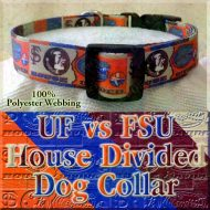 University of Florida Gators vs Florida State University Seminoles House Divided Designer Dog Collar Product Image No4