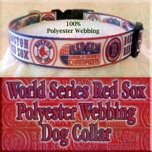 World Series Boston Red Sox Designer Dog Collar Product Image No2