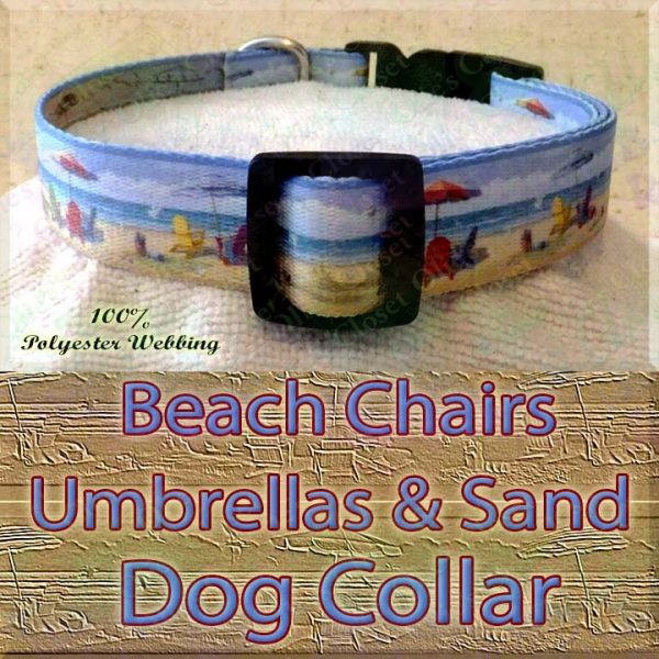 Beach Chairs Umbrellas & Sand Designer Polyester Webbing Dog Collar Product Image No3