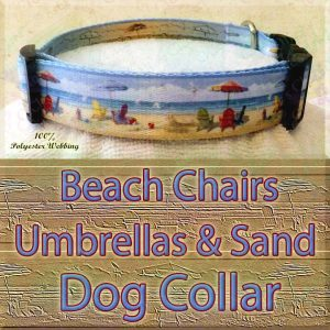 Beach Chairs Umbrellas & Sand Designer Polyester Webbing Dog Collar Product Image No4