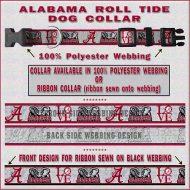 Alabama Roll Tide Dog Collar Design Display Product Image No2