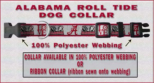 Alabama Roll Tide Dog Collar Design Display Product Image No3