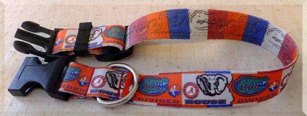 Florida Gators vs Alabama Crimson Tide House Divided Dog Collar Product Image No4