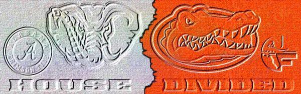 House Divided ALABAMA vs UF BACK DESIGN House Divided Dog Collar
