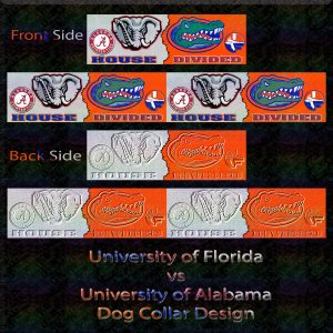 Florida vs Alabama House Divided Dog Collar Design Product Image