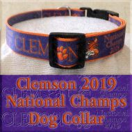 Clemson Tigers National Champs 2019 Dog Collar Product Image No3