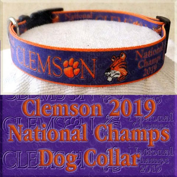 Clemson Tigers National Champs 2019 Dog Collar Product Image No4