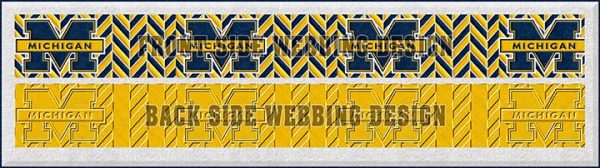 Michigan Wolverines Herringbone Dog Collar Design Display Product Image No3