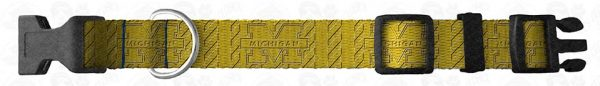 Michigan Wolverines Herringbone Dog Collar Design Display Product Image No5