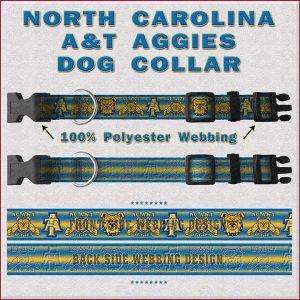 NC North Carolina A & T Aggies Dog Collar Design Display Product Image No1