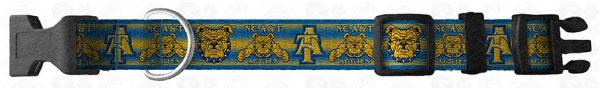 NC North Carolina A & T Aggies Dog Collar Design Display Product Image No2