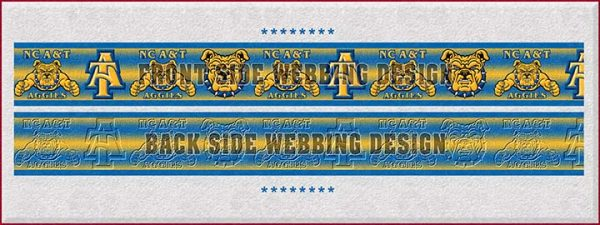 NC North Carolina A & T Aggies Dog Collar Design Display Product Image No3