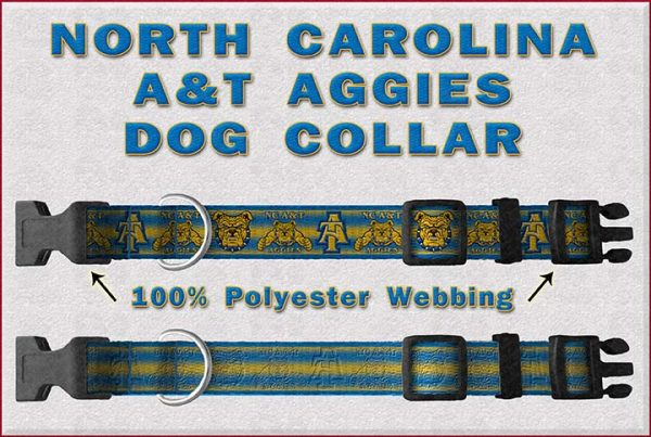 NC North Carolina A & T Aggies Dog Collar Design Display Product Image No4