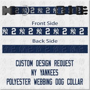 New York NY Yankees Custom Design Request Dog Collar Product Image No1