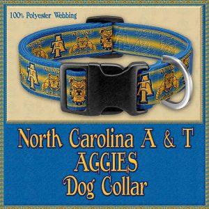 North Carolina A and T Aggies Designer Dog Collar Product Image No1