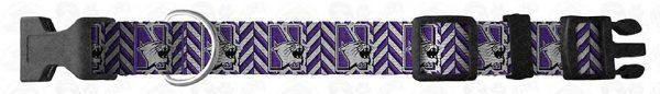 Northwestern University Herringbone Dog Collar Design Display Product Image No4