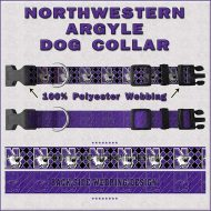 Northwestern Wildcats Argyle Dog Collar Design Display Product Image No1