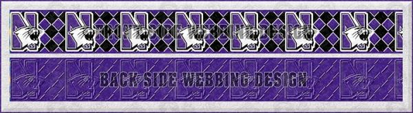 Northwestern Wildcats Argyle Dog Collar Design Display Product Image No4
